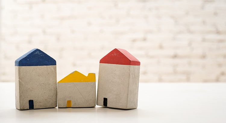 houses model on the white background.